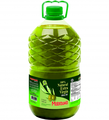 Масло оливковое Extra Virgin Olive oil MABROUKA, 5L PET bottle